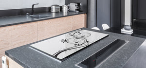 Induction Cooktop Cover – Glass Worktop saver: Fantasy and fairy-tale series DD18 Butterfly