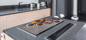 UNIQUE Tempered GLASS Kitchen Board Fruit and Vegetables series DD02 Fruit 1