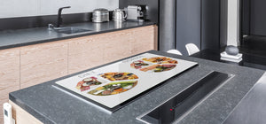 BIG KITCHEN BOARD & Induction Cooktop Cover – Glass Pastry Board - Food series DD16 Diet & Reality