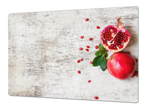 UNIQUE Tempered GLASS Kitchen Board Fruit and Vegetables series DD02 Grenade
