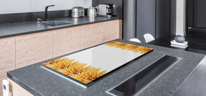 BIG KITCHEN BOARD & Induction Cooktop Cover – Glass Pastry Board - Food series DD16 Pasta 3