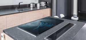 Induction Cooktop Cover – Glass Worktop saver: Fantasy and fairy-tale series DD18 A woman in a coat