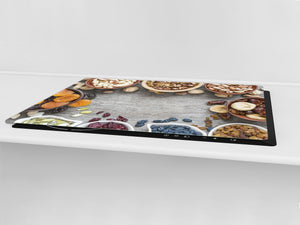 BIG KITCHEN BOARD & Induction Cooktop Cover – Glass Pastry Board - Food series DD16 Delicacies 4