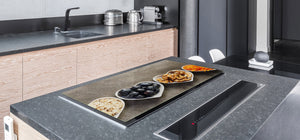 BIG KITCHEN BOARD & Induction Cooktop Cover – Glass Pastry Board - Food series DD16 Delicacies 5