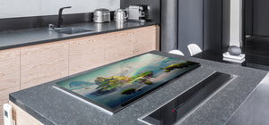 Induction Cooktop Cover – Glass Worktop saver: Fantasy and fairy-tale series DD18 Fantastic world
