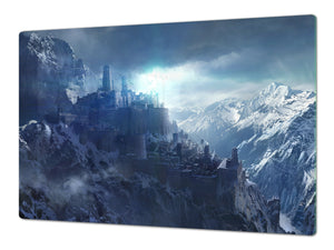 Induction Cooktop Cover – Glass Worktop saver: Fantasy and fairy-tale series DD18 Dark castle