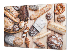 HUGE TEMPERED GLASS CHOPPING BOARD – Bread and flour series DD09 Fresh bread 4