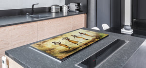 HUGE TEMPERED GLASS COOKTOP COVER - Egyptian Series DD15 Egyptian women