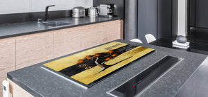 HUGE TEMPERED GLASS COOKTOP COVER - Egyptian Series DD15 Egispki theme 2