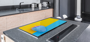 UNIQUE Tempered GLASS Kitchen Board Fruit and Vegetables series DD02 Blue strawberry