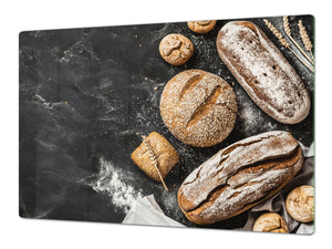 HUGE TEMPERED GLASS CHOPPING BOARD – Bread and flour series DD09 Fresh bread 8