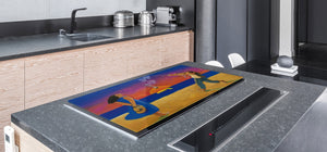Induction Cooktop Cover – Glass Worktop saver: Fantasy and fairy-tale series DD18 A date on fish