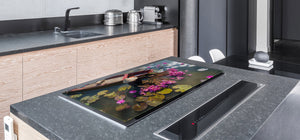 Very Big Cooktop saver - Nature series DD08 A collection of lotus