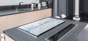 Gigantic KITCHEN BOARD & Induction Cooktop Cover - Water Series DD10 Drops of water 3
