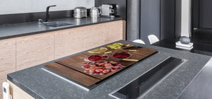 BIG KITCHEN PROTECTION BOARD or Induction Cooktop Cover - Wine Series DD04 Wine 1