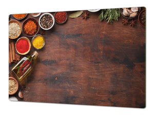 Cutting Board and Worktop Saver – SPLASHBACKS: A spice series DD03B Colorful spices 3
