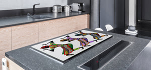 HUGE TEMPERED GLASS COOKTOP COVER - Egyptian Series DD15 Folklore dance