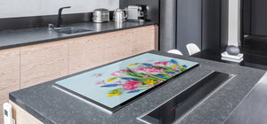 Induction Cooktop Cover – Glass Cutting Board- Flower series DD06B Bouquet