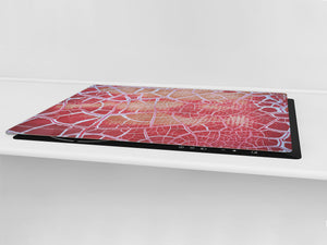 Impact & Scratch Resistant Glass Cutting Board and worktop saver; Texture Series DD20 Texture 3