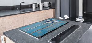 Gigantic KITCHEN BOARD & Induction Cooktop Cover - Water Series DD10 Lifebuoy