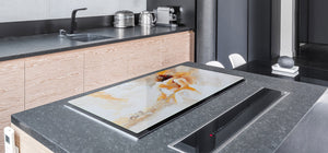 GIGANTIC CUTTING BOARD and Cooktop Cover- Image Series DD05A In embrace