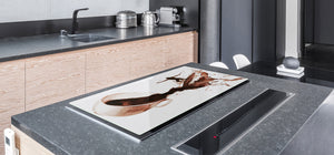 Worktop saver and Pastry Board – Glass Kitchen Board- Coffee series DD07 Surfer on coffee
