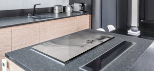 Gigantic Worktop saver and Pastry Board - Tempered GLASS Cutting Board Animals series DD01 Happy elephant