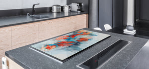 Induction Cooktop Cover – Glass Cutting Board- Flower series DD06B Poppies 6