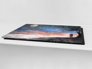 Induction Cooktop Cover – Glass Worktop saver: Fantasy and fairy-tale series DD18 Sunset