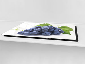 UNIQUE Tempered GLASS Kitchen Board Fruit and Vegetables series DD02 Grape