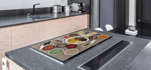 HUGE TEMPERED GLASS COOKTOP COVER A spice series DD03A Mosaic of spices 3