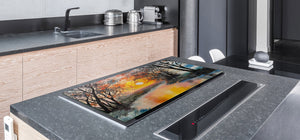 GIGANTIC CUTTING BOARD and Cooktop Cover- Image Series DD05A Sunset