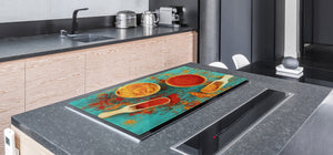 HUGE TEMPERED GLASS COOKTOP COVER A spice series DD03A Curry 1