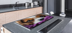 Gigantic Worktop saver and Pastry Board - Tempered GLASS Cutting Board Animals series DD01 Doggie