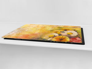 GIGANTIC CUTTING BOARD and Cooktop Cover- Image Series DD05A Flowers 3