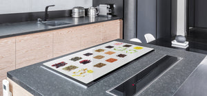 HUGE TEMPERED GLASS COOKTOP COVER A spice series DD03A Mosaic with spices 5