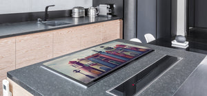 Induction Cooktop Cover – Glass Worktop saver: Fantasy and fairy-tale series DD18 Houses from books