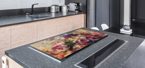 ENORMOUS  Tempered GLASS Chopping Board - Flower series DD06A Flowers 1