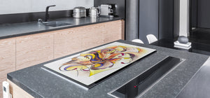 Worktop saver and Pastry Board – Cooktop saver; Series: Outside Series DD19 Painted pattern