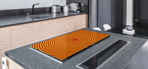 UNIQUE Tempered GLASS Kitchen Board – Abstract Series DD14 Colorful vortex