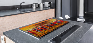 HUGE TEMPERED GLASS COOKTOP COVER - Egyptian Series DD15 African women