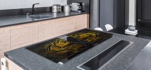 HUGE TEMPERED GLASS COOKTOP COVER - Egyptian Series DD15 Egyptian figure