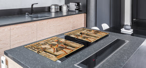 HUGE TEMPERED GLASS COOKTOP COVER - Egyptian Series DD15 Hieroglyphs 4