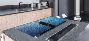 Gigantic KITCHEN BOARD & Induction Cooktop Cover - Water Series DD10 Drops of water 2