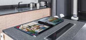 Worktop saver and Pastry Board – Cooktop saver; Series: Outside Series DD19 Colorful stained glass