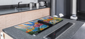 GIGANTIC CUTTING BOARD and Cooktop Cover- Image Series DD05A Flowers 4