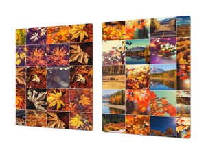 Very Big Cooktop saver - Nature series DD08 Autumn leaves
