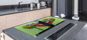 Gigantic Worktop saver and Pastry Board - Tempered GLASS Cutting Board Animals series DD01 A smiling frog 1