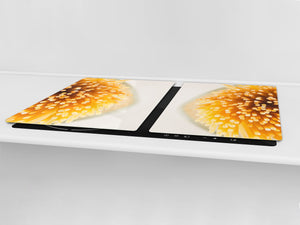 BIG KITCHEN BOARD & Induction Cooktop Cover – Glass Pastry Board - Food series DD16 Pasta 1