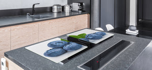 UNIQUE Tempered GLASS Kitchen Board Fruit and Vegetables series DD02 Bilberry